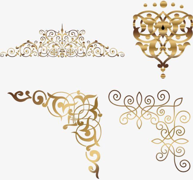 Gold Corner Pattern Png Free Download Golden Corner Vine Png Transparent Clipart Image And Psd File For Free Download Gold Graphic Design Flower Background Design Floral Border Design