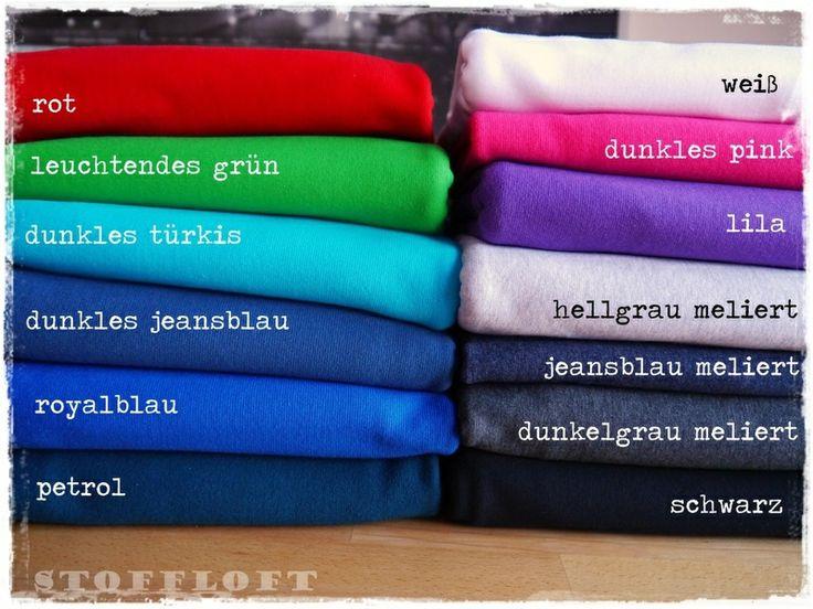 Bündchen - Farbwahl, ab 10 cm *hoher Baumwollant von StoffLoft auf DaWanda.com