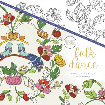Kaisercraft Kaisercolour FOLK DANCE Adult Colouring Book CL515 - Crafty Inspiration