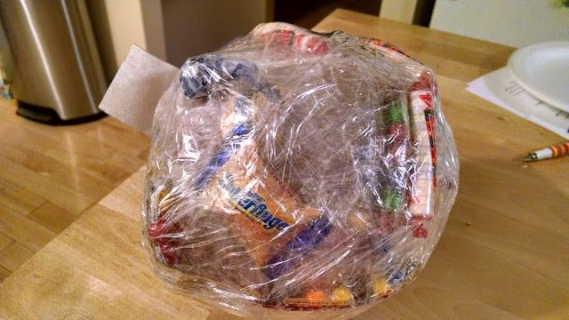 Must Run in the Family: Party Game: candy and a ball of tape