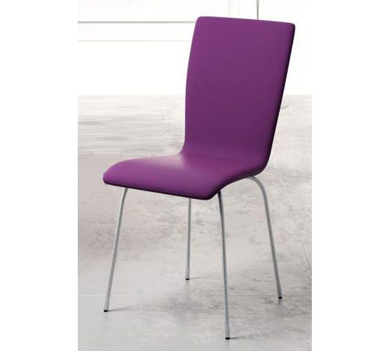 Silla en polipiel morado con patas en mate sillas y - Sillas de mimbre ikea ...