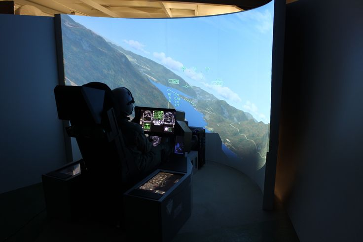 F-18 anyone? Everything possible with our Universal Fighter Jet Simulator with both - right side or center mounted stick adapter.
