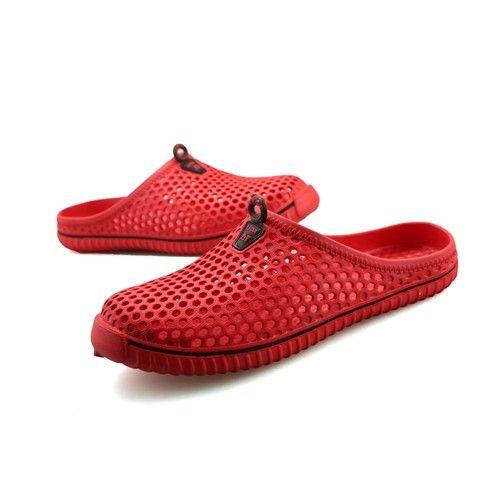Rot Mesh Clogs Schuhe Für Erwachsene