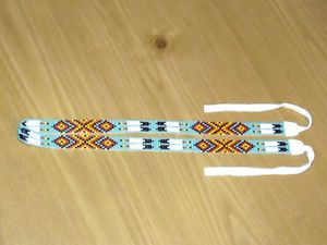 Choctaw Indian Designs | Details about Choctaw Indian Beaded Hatband , Eagle Feather Design
