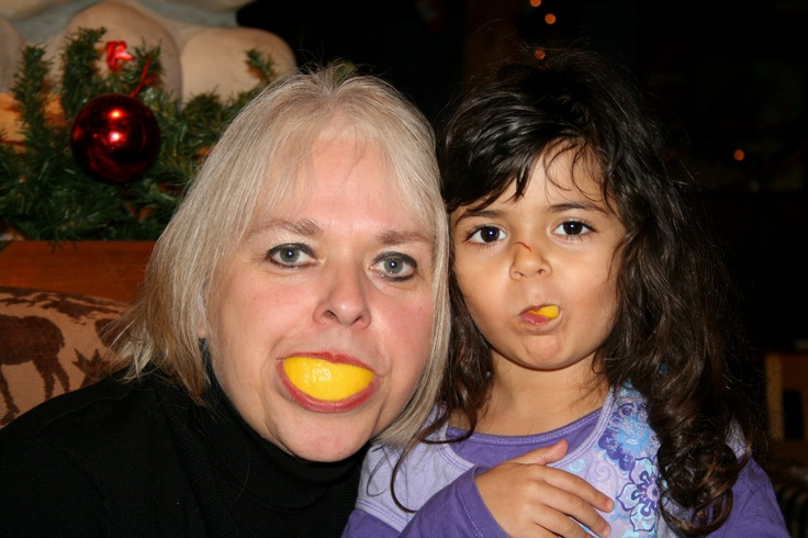Play time with lemons and g kids.