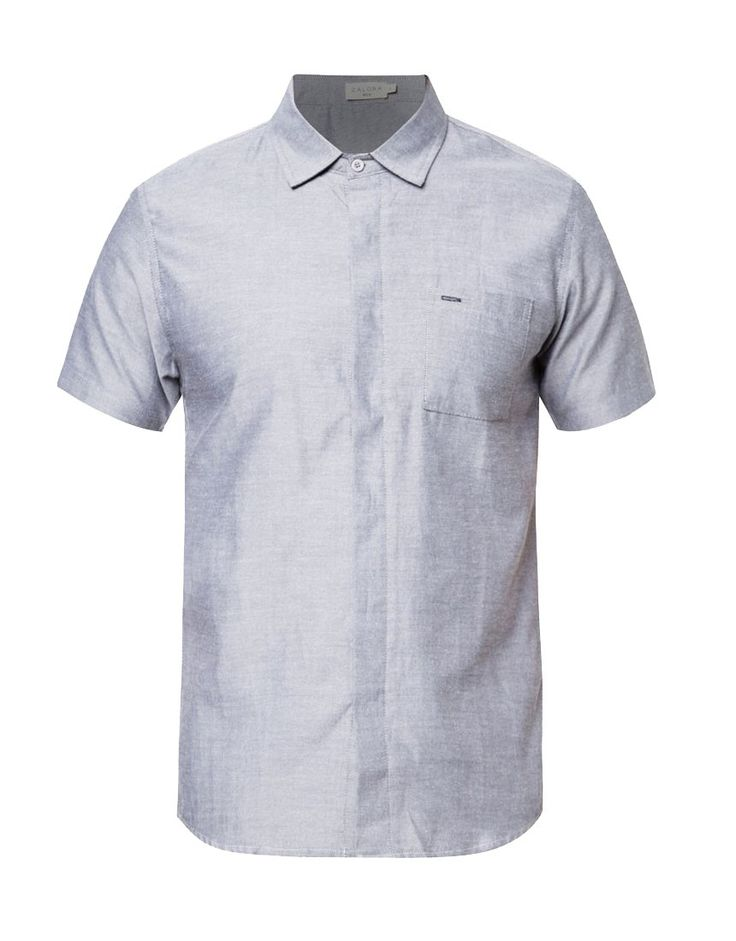 Contrast Under Collar Short Sleeve Shirt by ZALORA. Classic t-shirt with blue color that made from cotton, short sleeves, shirt that suitable for formal or informal occasion, pair this shirt with a office pants for a formal style. http://www.zocko.com/z/JG9Xz