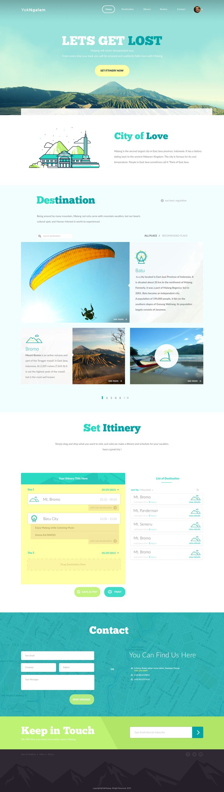 Yok Ngalam. Let's get lost in this beautiful site. #webdesign #design