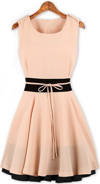 Pink Dress- falda con volados ideal para mujeres con poca cadera