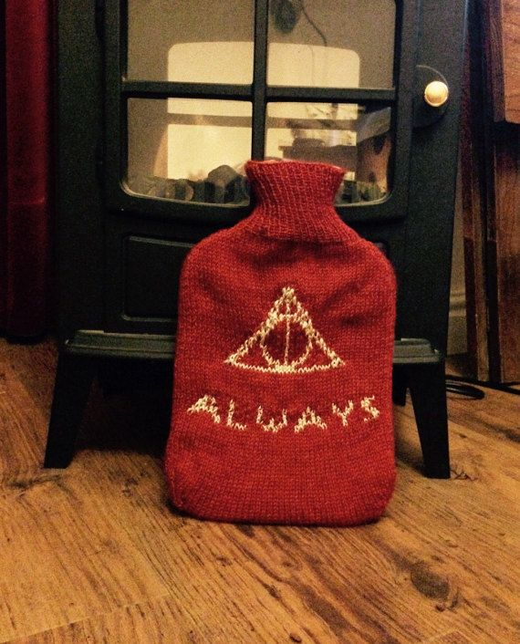 Gryffindor Deathly Hallows Hot Water Bottle  Harry Potter