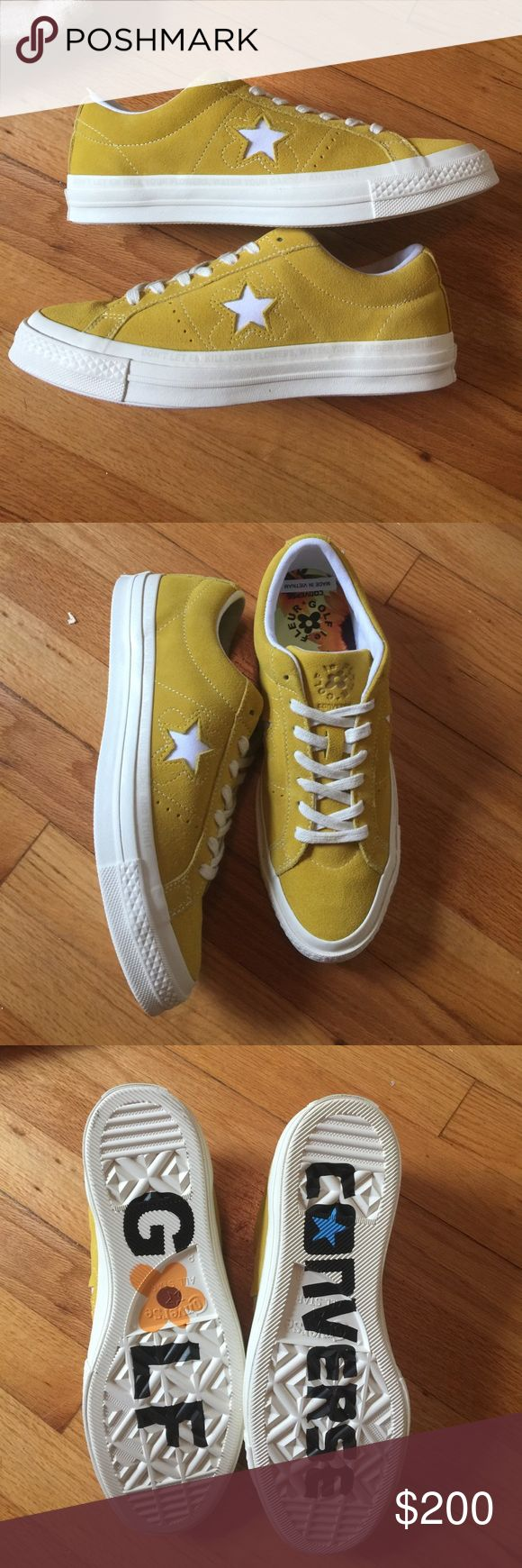 Converse- tyler the creator golf Le fleur 100% Deadstock in box. Some damage to box (pictured). Men's size 8 = women's size 10 Converse Shoes Sneakers