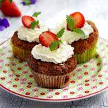 Jordbærmuffins