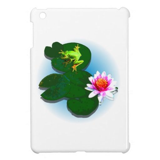 Customize Frog On A Lily Pad iPad Case Cover For The iPad Mini - This iPad case features a frog on a lily pad with a light blue fading water background. Change the background colour and add your own text to get it just the way you like it! Available for the iPad, iPad mini and iPad air. http://www.zazzle.com.au/customize_frog_on_a_lily_pad_ipad_case_ipad_mini_case-256548692701068019?rf=238523064604734277