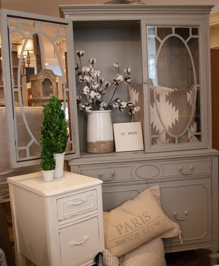 Intellectual Gray, Sherwin Williams China Cabinet