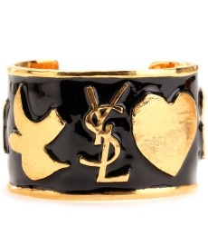 I love the details @Yves Saint Laurent Enamel Cuff with logo & Star