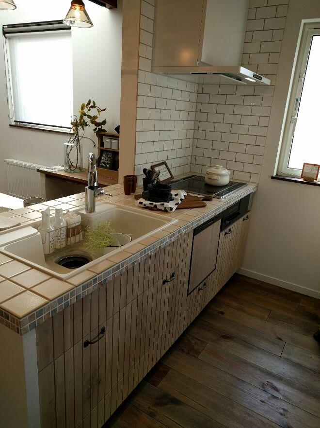 キッチン タイル Google 検索