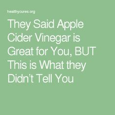 sunglasses hut They Said Apple Cider Vinegar is Great for You  BUT This is What they Didn  t