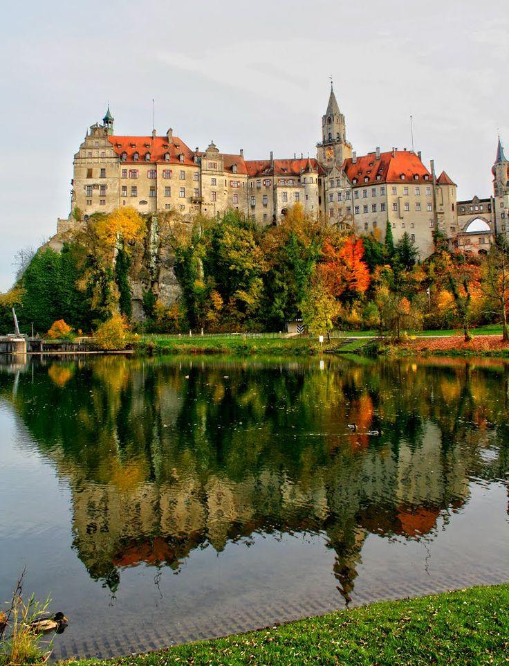 Reflections of Sigmaringen Castle, Baden-Württemberg, Germany (by A..W.)  #zeisset #weisweil  Repinnt by www.zeisset.de