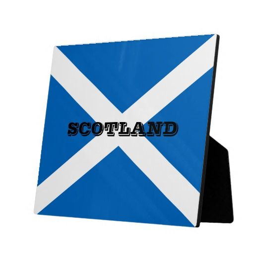 Scotland flag photo plaque