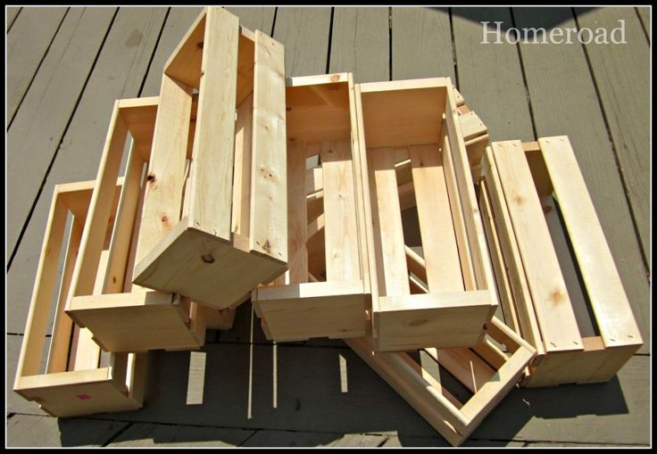 No Ideas How To Make Wooden Crates