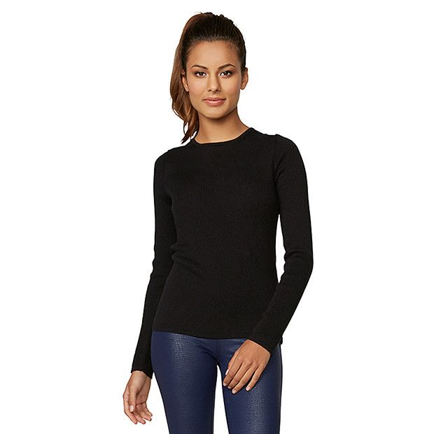 Dannii Minogue Petites Silk Cashmere Top - Black