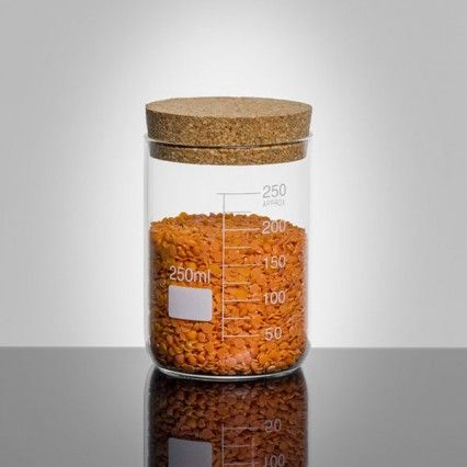 Lab Cork Lid Storage Jar - 250ml - science storage canister - Jay