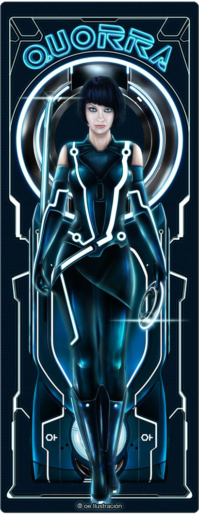 Quorra | Tron Legacy by ~Fluorescentteddy on deviantART