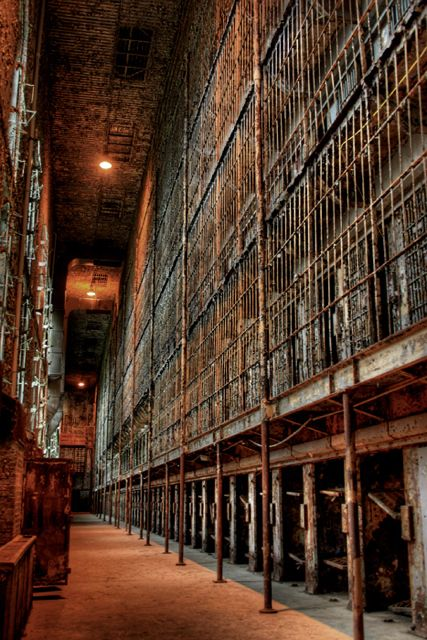 Ohio State Reformatory. Now closed down it is being preserved by conducting tours to raise money. Still has the largest standing cell block and the location for film makers.   I can't even imagine what it would be like to have to be locked up in a place like this
