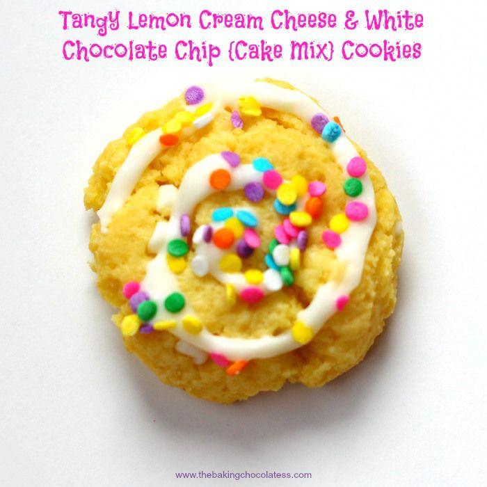 Tangy Lemon Cream Cheese & White Chocolate Chip Cookies ...