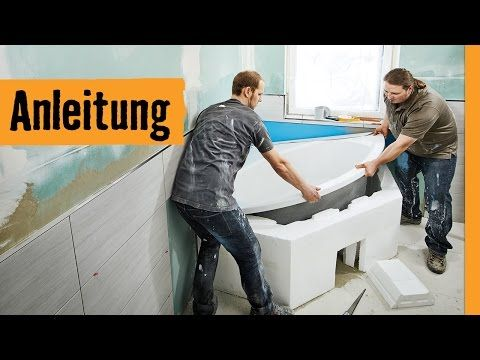 Badewanne einbauen: mit Wannenträger   HORNBACH Meisterschmiede - YouTube
