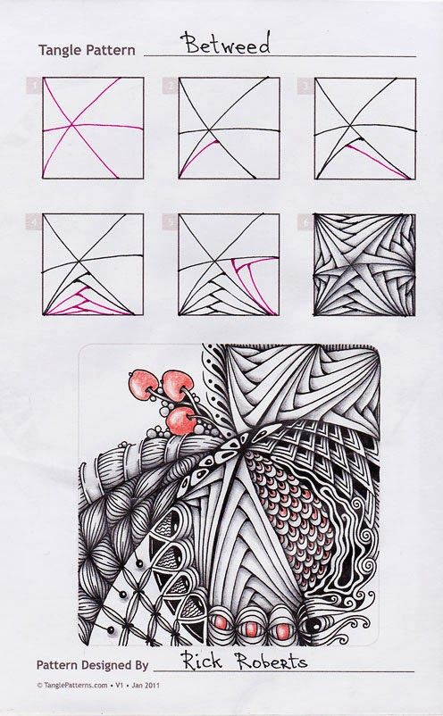 Zentangle. Betweed
