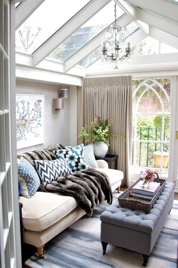 """As a """"she shed""""? I would love this as a personal space/office separate from the house. I love all of the light from the beautiful windows, but it still feels cozy and private."""