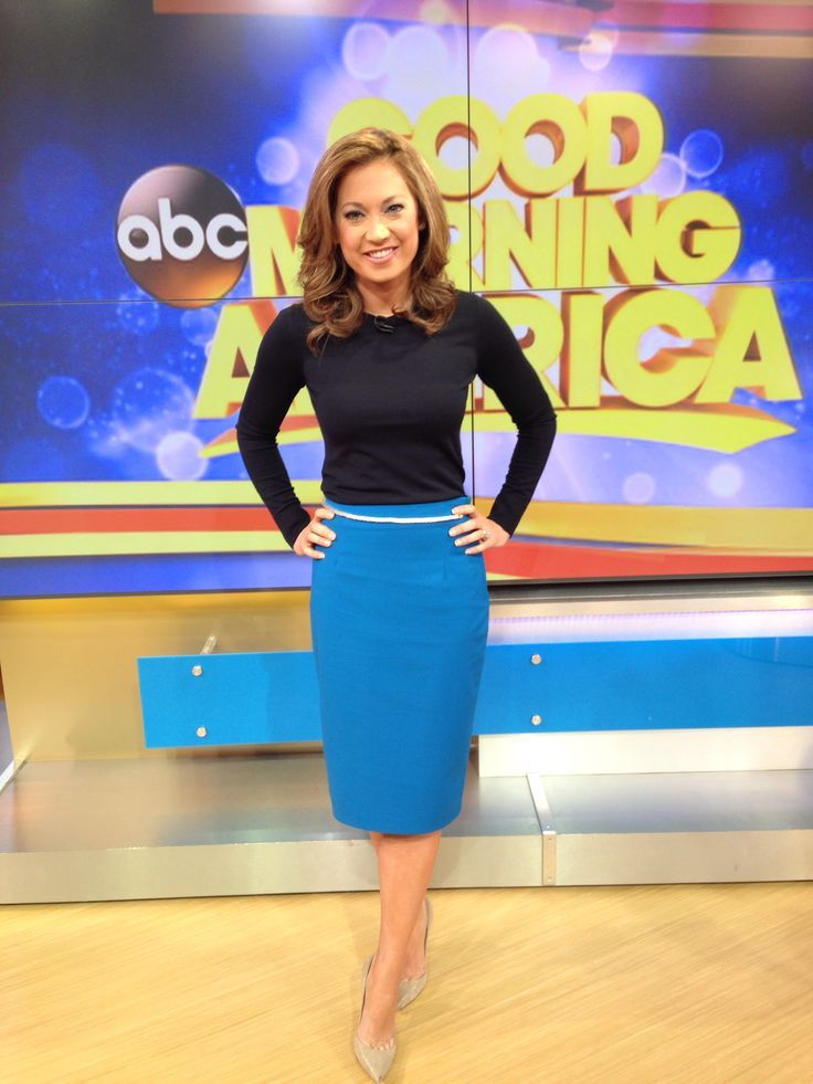 ginger zee on pinterest | bought the top at Theory and the skirt at Zara. Belt is a necklace ...