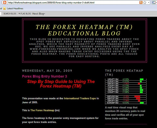 Link To The Step By Step Guide To Using The Forex Heatmap Theforexheatmap Blogspot