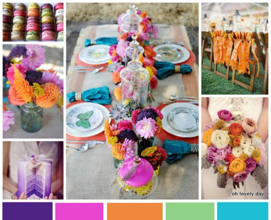 {Inspiration Board} Colorful Jewel Toned Wedding | Oh Lovely Day