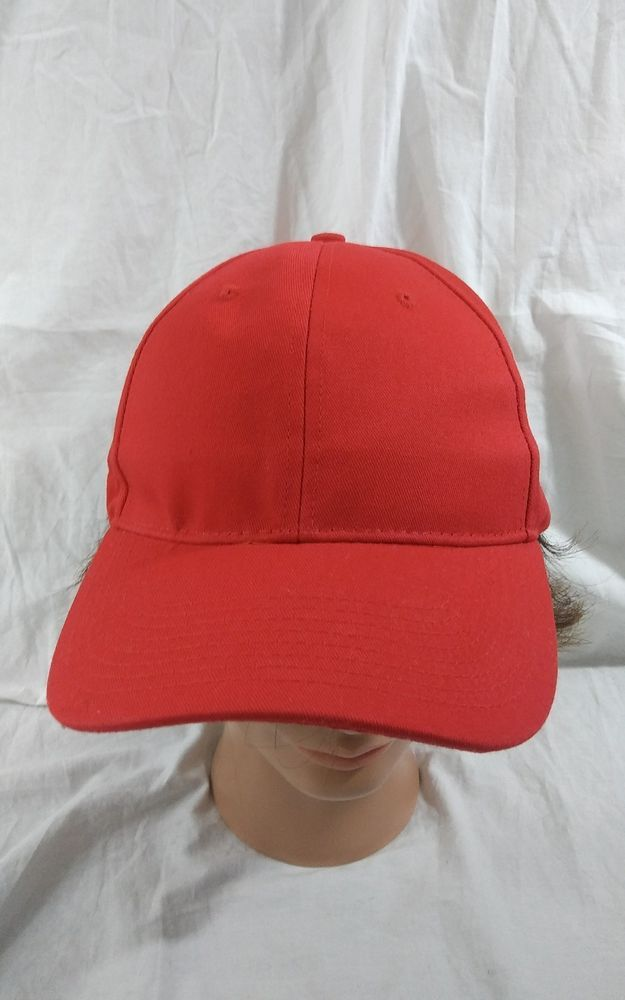 American Apparel Red Adjustable Baseball Hat Cotton Twill Cap   AmericanApparel  BaseballCap 62637e12558