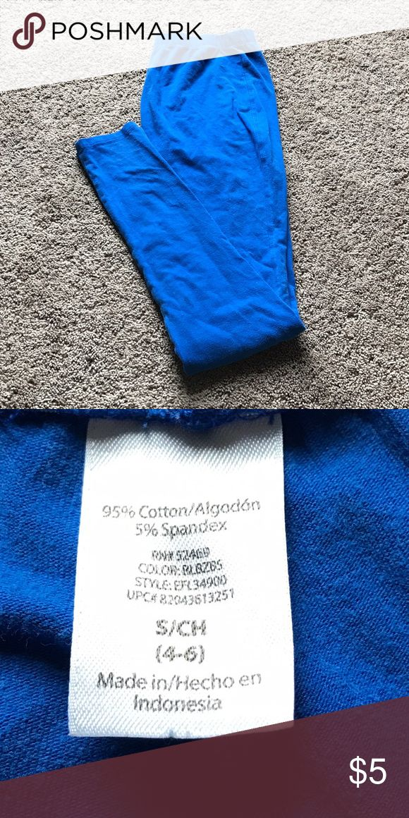 Royal Blue Leggings Royal blue leggings, size small (4-6). Worn several times and in great condition. No trades. Comment with questions :) Pants Leggings