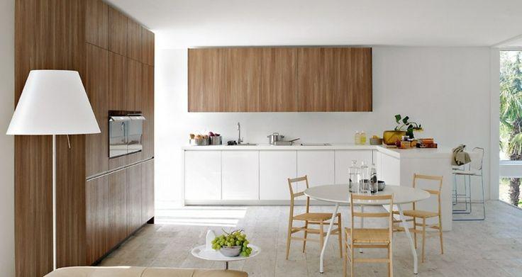cuisine-blanche-et-bois-sympathique-avec-meubles-bois-et-bois.jpg (Image JPEG, 760×404 pixels)