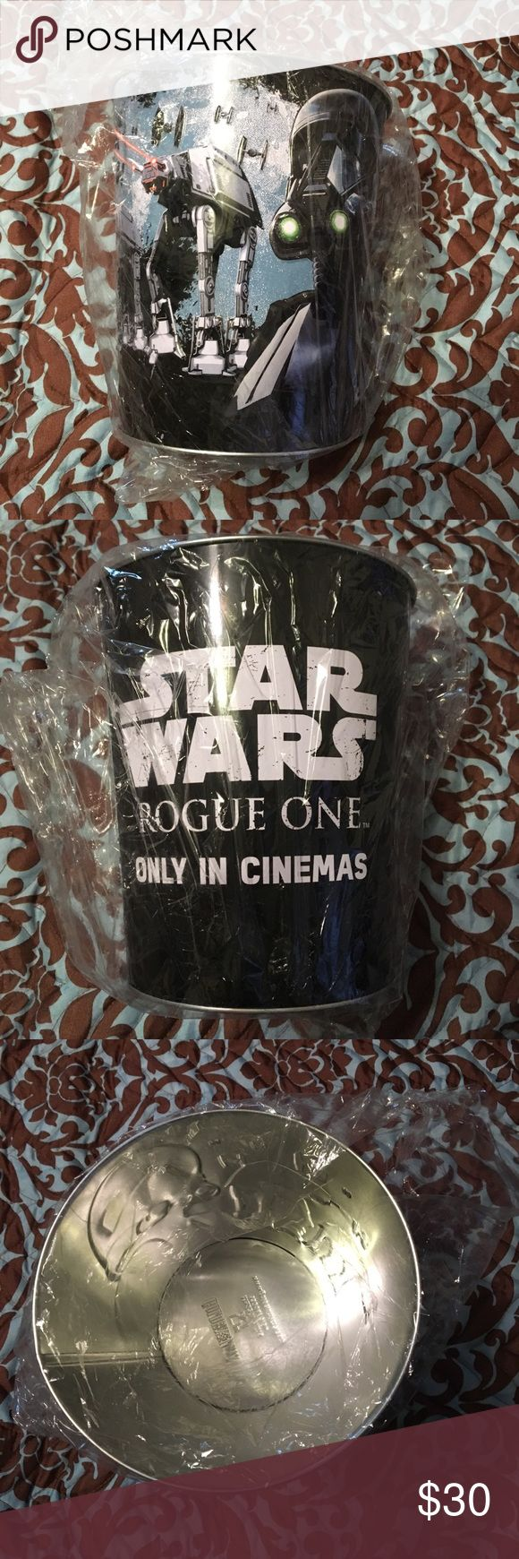 Star Wars popcorn tin Brand new Star Wars rouge one storm trooper popcorn tin. Bought from local movie theater never used. Disney Other