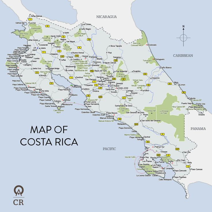 35 best costa rica surf maps images on pinterest surf maps costa from world atlas map of costa rica maps site w great activities to do while in costa gumiabroncs Images