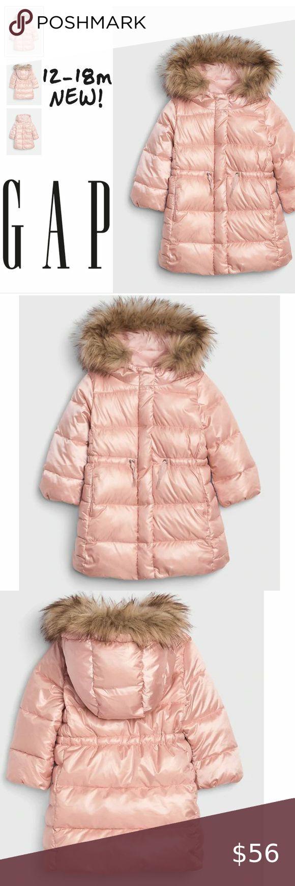 Gap Toddler Coldcontrol Max Long Puffer Pink 12 18 Long Puffer Girls Puffer Jacket Kids Coats Girls [ 1740 x 580 Pixel ]