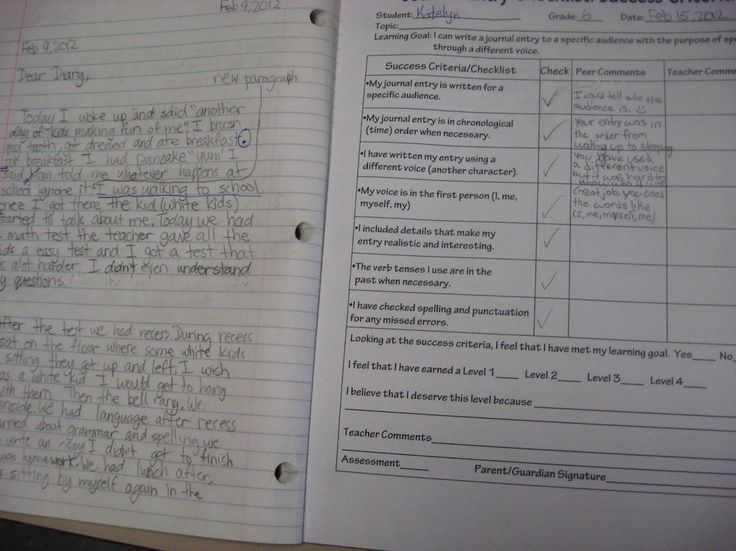 Learning Goal statement and Success Criteria/Checklist