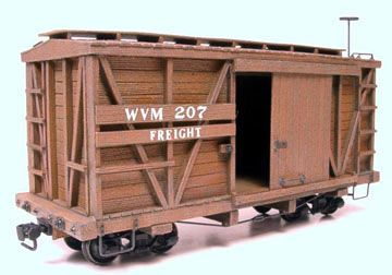 #618 -- 20' Outside-Braced Boxcar, 2-pack (On30)