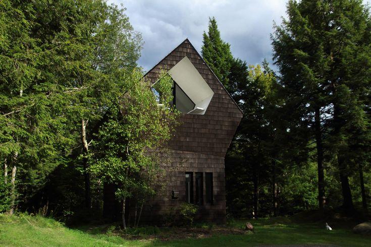 La Colombière - Forest refuge in Canada  #ekmagazine #ek #lacolombiere #canada #forest