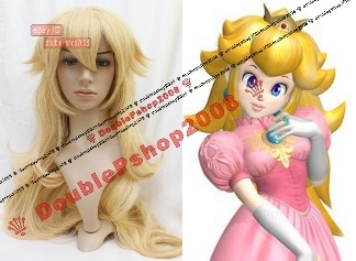 Super Mario Bros Princess Peach Cosplay Wig