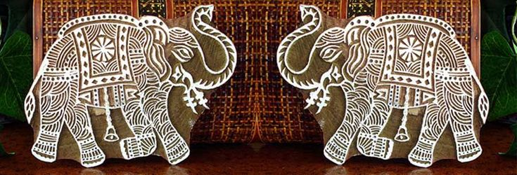 Buy wooden printing blocks, Indian wood print henna stamps from manufacturer on…
