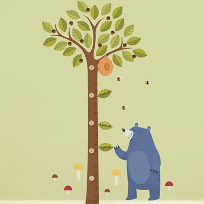 Acorn Tree Growth Chart - wall decal, this would go great in the kids playroom