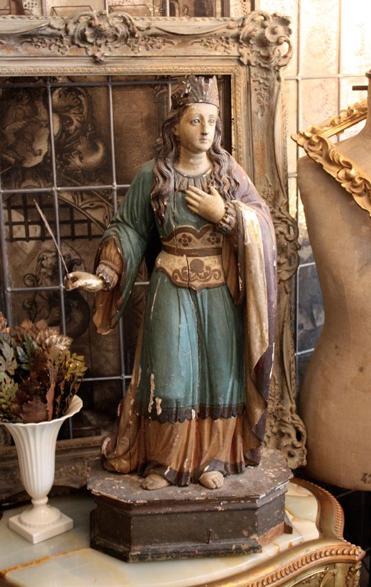 Incredible St Filliminia 18th Century Santos Beauty-