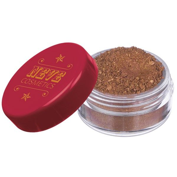 Ombretto Drumroll: Marrone senape intenso con satinatura rosso ruggine e shimmer color oro, rosa e arancione.