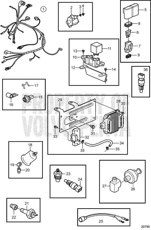 volvo penta trim motor diagram