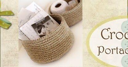 Un cestino fatto all'uncinetto  può servirci per raccogliere i piccoli oggetti  lasciati disordinati in giro per tutta la casa - orecchini q...